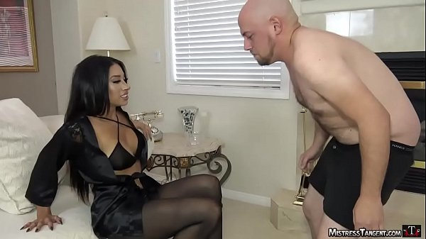 Mistress Tangent femdom ballbusting and foot wo…