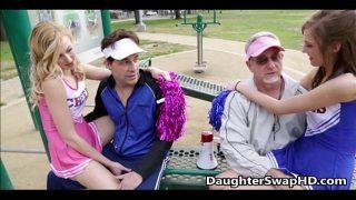 Teen Cheerleaders Dad's Agree To Swap Daughters…