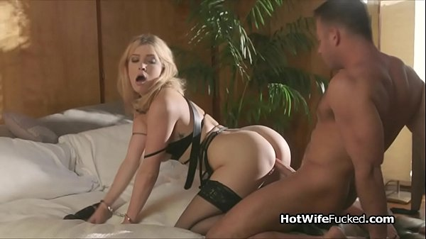 Multiple orgasms for busty lingerie hotwife
