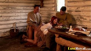 Redhead with natural tits Rosses Silver loves t…