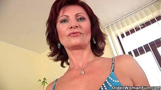 Granny Wanda with her hard nipples and hirsute …