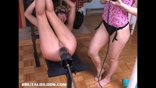 Sandy pounded hard by a brutal dildo machine