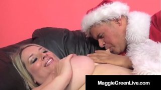 Horny Hottie Maggie Green Is Banged By Santa & His BBC Elf!