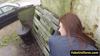Pickedup babe pov fucked outdoor by dirty cop