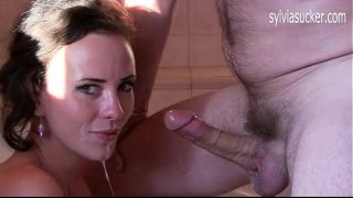 Sylvia Chrystall's Slurping Deepthroat Cock Worship and Cum Play and Cum Swallow