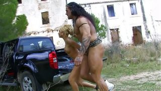 Fantasy Princess Takes On Muscled, Tattooed Strongman